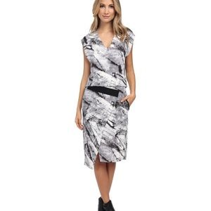 Helmut Lang Terrene Marble Silk Dress -  size 2